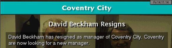 beckham quits coventry