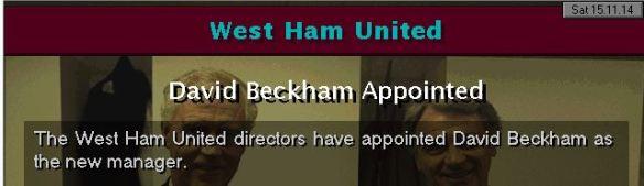 beckham to west ham