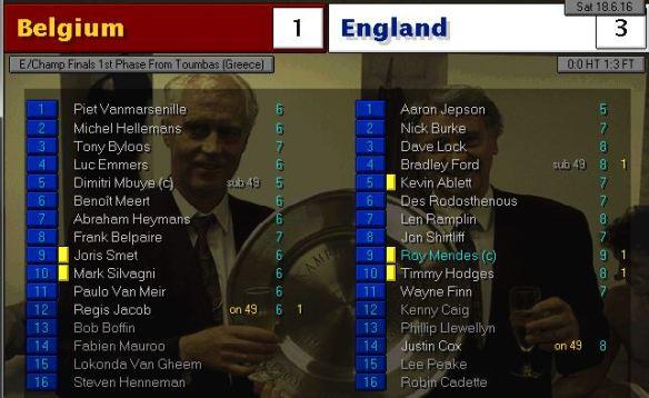 belgium 1 - 3 england