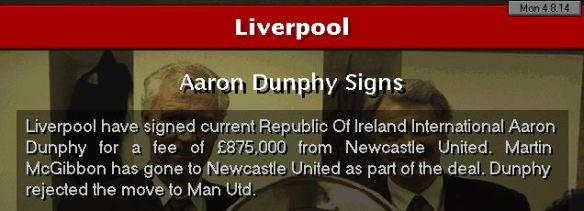 Dunphy to Liverpool