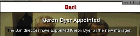 Dyer to Bari