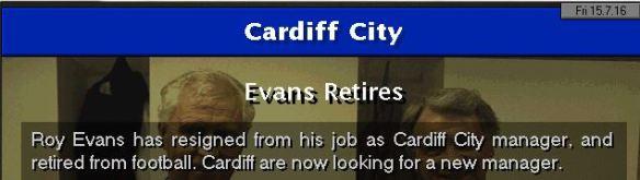 evans retires