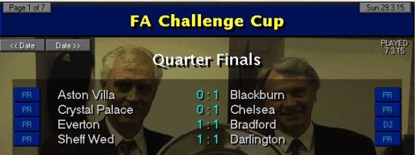 FA Cup QF Results