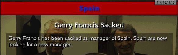francis sacked from spain