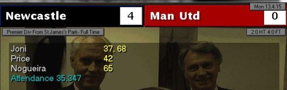 newcastle 4 - 0 man utd