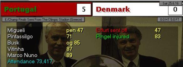 portugal 5 - 0 denmark