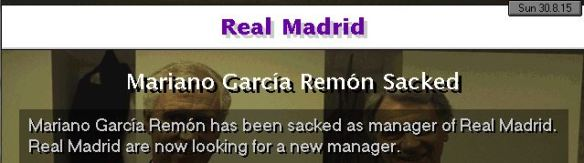 Real Madrid manager sacked