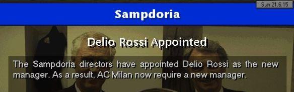 sampdoria appoint rossi