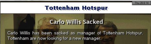 spurs sack manager