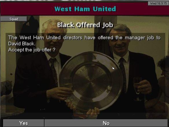 west ham job offer