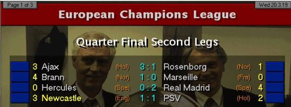 CL QF reults