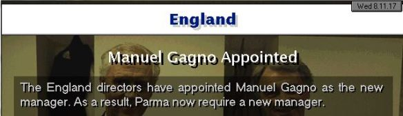 england appoint gagno