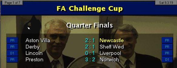 FA QF results