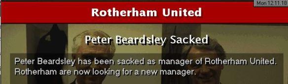Rotherham sack Beardsley