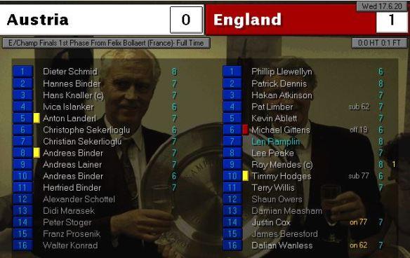 austria 0 - 1 england