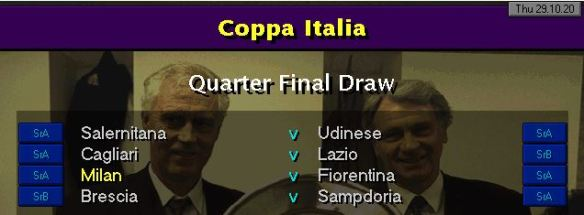 coppa italia QF draw