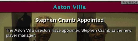 cramb to villa