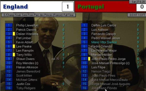 england 1 - 0 portugal
