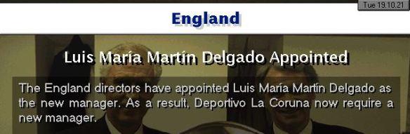 england appoint delgado