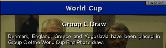 England WC draw