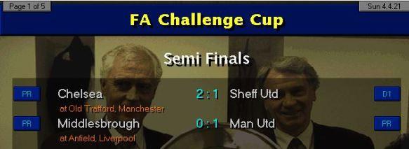 FA Cup SF Results 21