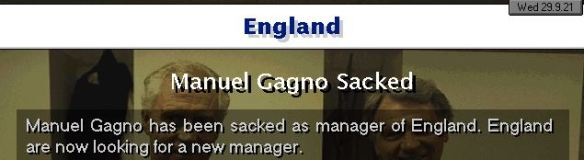 gagno sacked