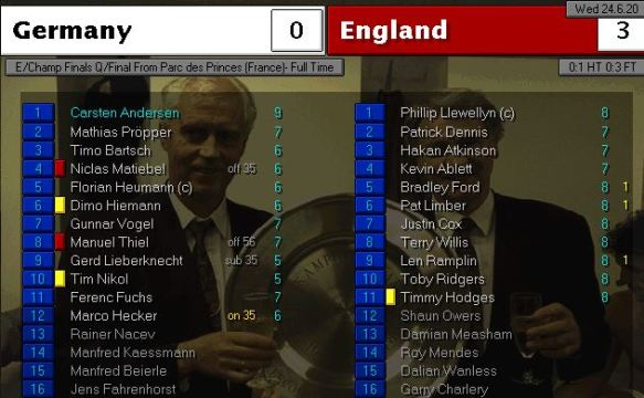 germany 0 - 3 england