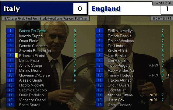 italy 0 - 1 england