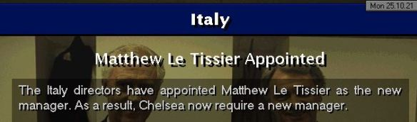 le tissier to italy