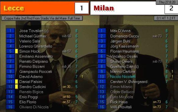 milan first game