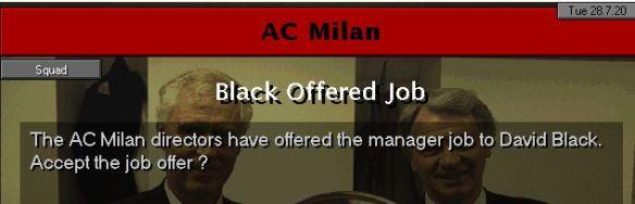 milan job offer