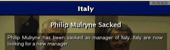 mulryne sacked