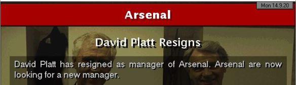 platt quits arsenal