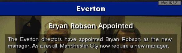 Robson to Everton