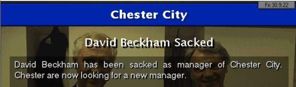Chester sack Beckham