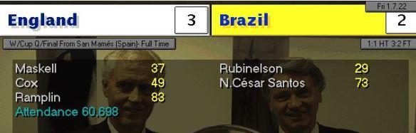 england 3 -2 brazil