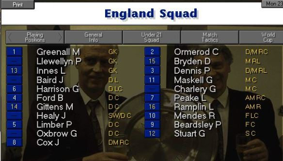england squad 22