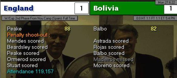 Pens vs Bolivia