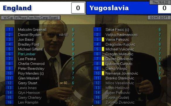 yugoslavia 0-0