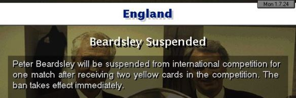 Beardsley banned