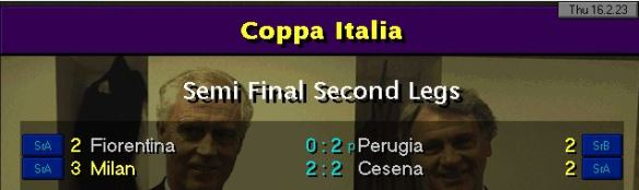 coppa italia SF results