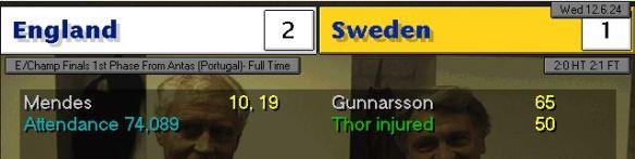 england 2 - 1 sweden