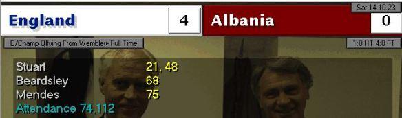 england 4 - 0 albania