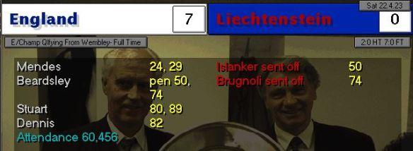 england 7 - 0