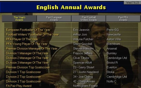 English awards 23