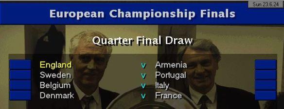 Euros QF Draw