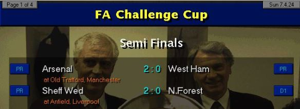 FA Cup SF results 24