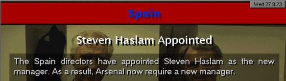 haslam to spain