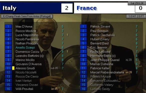 italy 2 - 0 france