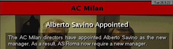 savino to milan